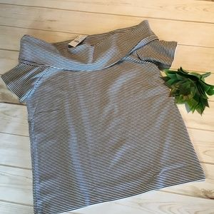 J Crew Factory Striped off-the-shoulder